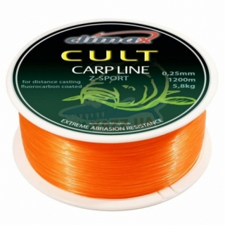 Леска CLIMAX CULT 0.22mm CARP LINE Z-SPORT orange 4.4kg (1300m)